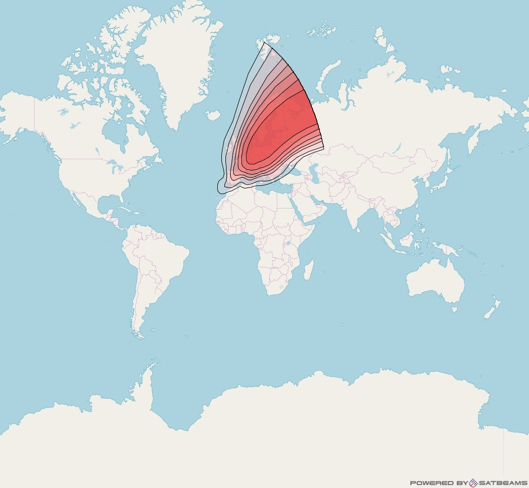 Intelsat 37e at 18° W downlink Ku-band Spot02 User beam coverage map