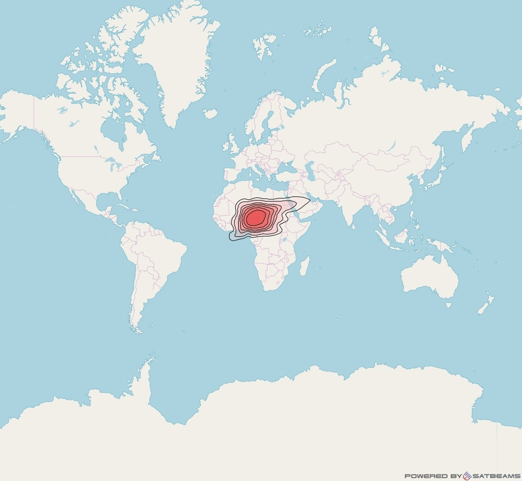 Intelsat 37e at 18° W downlink Ku-band Spot19 User beam coverage map