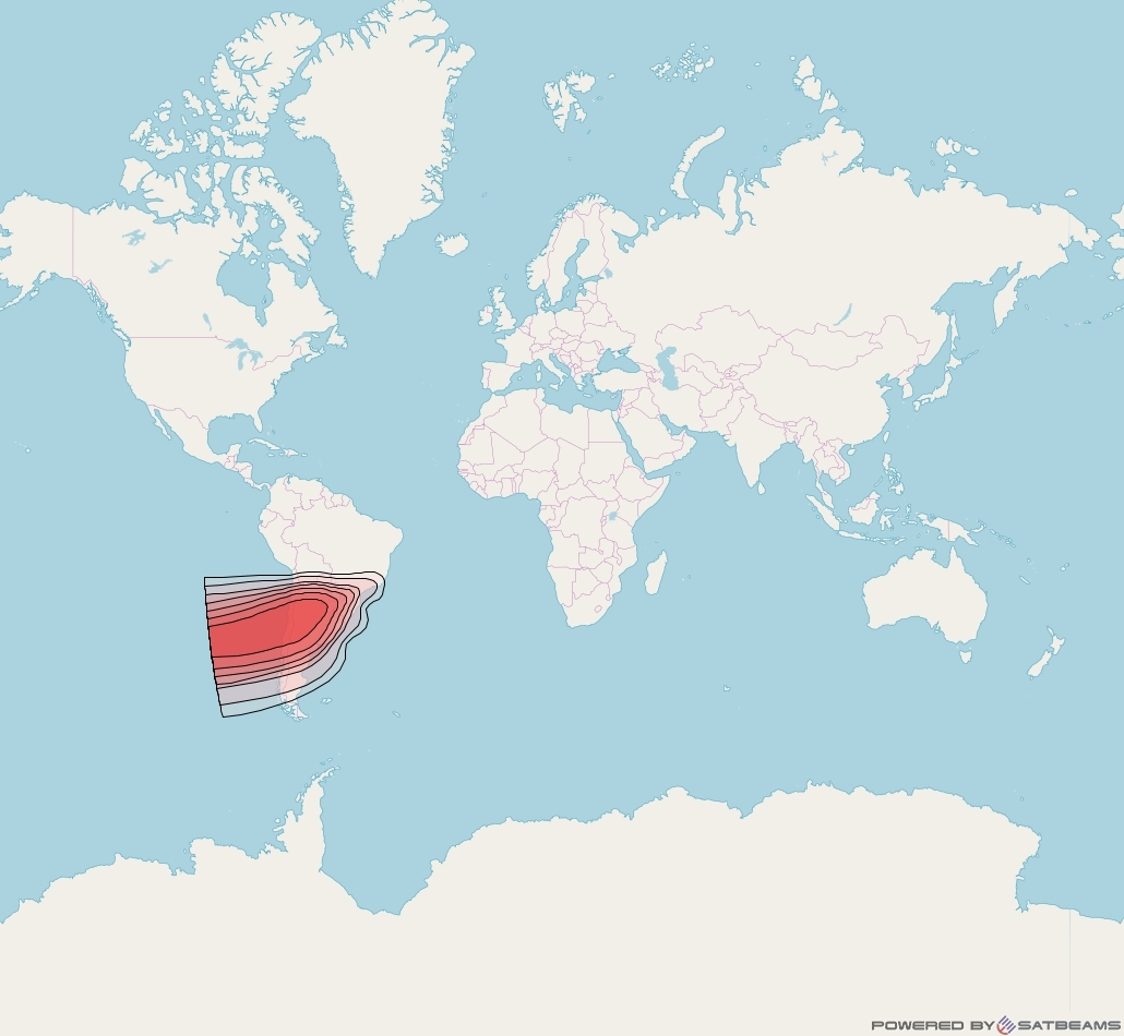 Intelsat 37e at 18° W downlink Ku-band Spot52 User beam coverage map