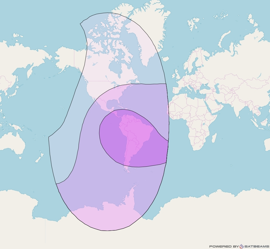 Intelsat 30 at 95° W downlink C-band Global Beam coverage map