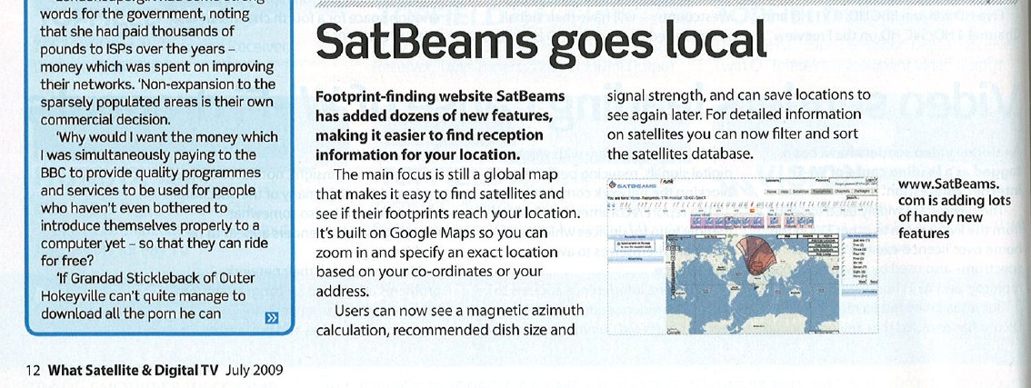 WhatSat article about Satbeams